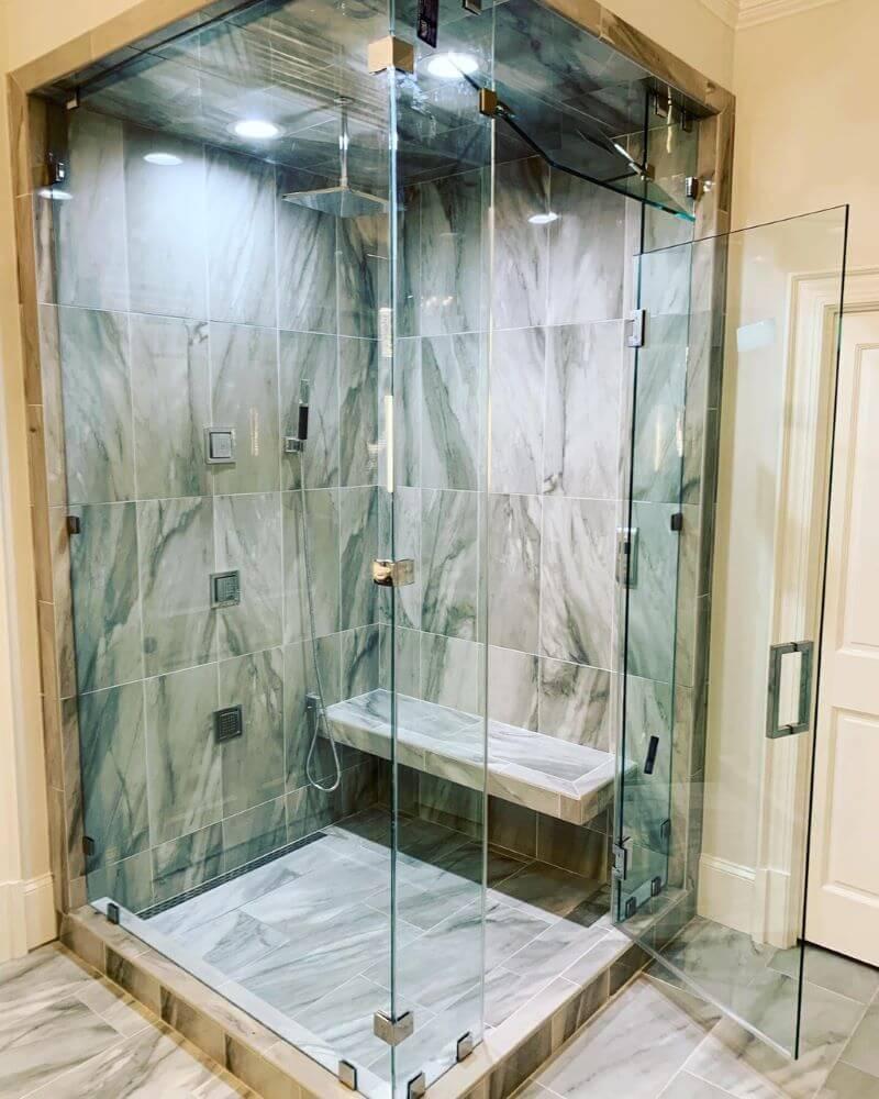 heavy glass enclosure